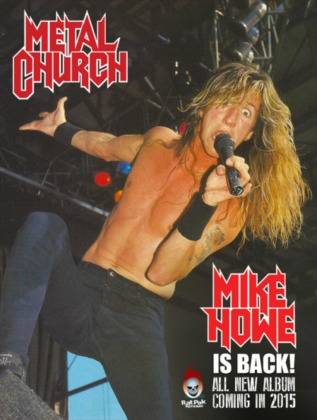 Metal Church - Mike Howe - Is Back - promo flyer - 2015 - #016MCMORPR