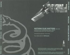 Metallica - Nothing Else Matters - back cover - CD single - promo pic - #1991