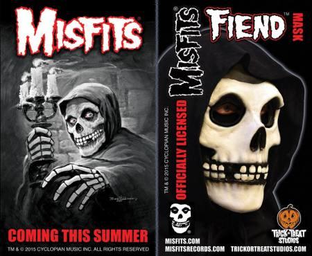 Misfits - Fiend Mask - promo flyer - 2015 - #05MMOJO1339