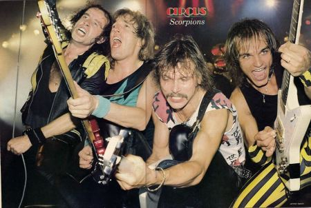 Scorpions - mid 1980s - circus magazine poster - #MOSKM001SF25
