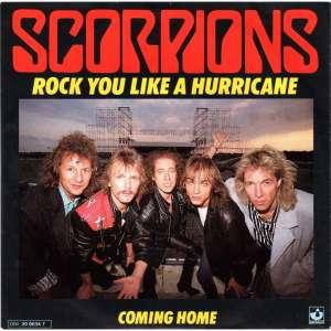 Scorpions - Rock You Like A Hurricane - promo 45rpm cover sleeve - 1984 - #250526SMO