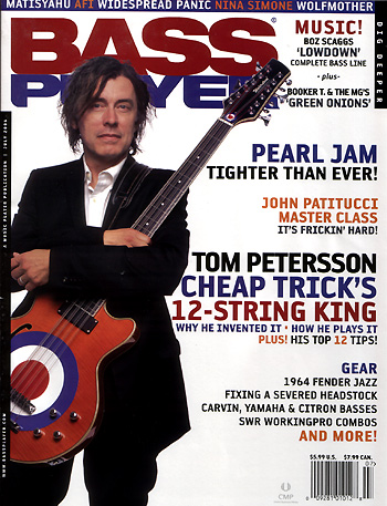 Tom Petersson - Bass Player Magazine - promo cover pic - July - 2006 - MOTP01