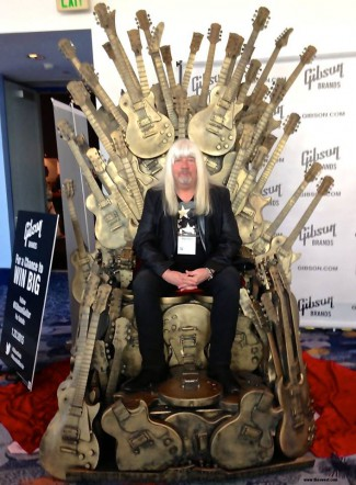 Andy Scott - Gibson Throne pic - Namm - 2015 - LA - Sweet Facebook Credit