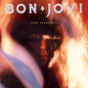 Bon Jovi - 7800° Fahrenheit - promo album cover pic - 1985 - #03MOSLN