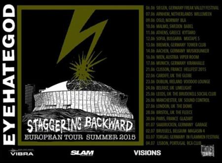 Eyehategod - Staggering Backward Summer European Tour - promo flyer - 2015 - #0606EMOMW
