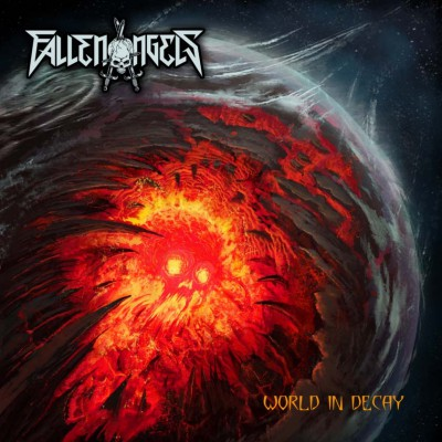 Fallen Angels - World In Decay - promo album cover pic - 2015