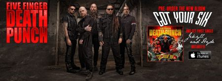 Five Finger Death Punch - Got Your Six - promo album banner - 2015