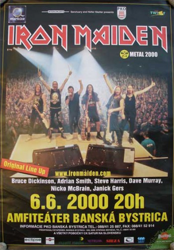Iron Maiden - Brave New World tour - promo flyer - June 6 - 2000