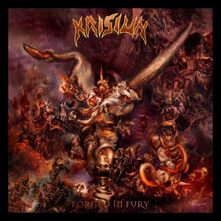 Krisiun - Forged In Fury - promo album cover pic - 2015 - #061215KMOSANF