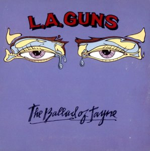 LA Guns - The Ballad Of Jayne - 1990 - promo 45rpm cover sleeve - #0630MONLSFAE