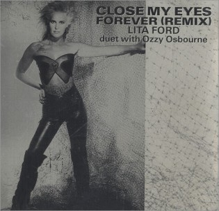 Lita Ford - Ozzy Osbourne - Close My Eyes Forever - promo 45rpm cover sleeve - 1989 - #0617MONILD