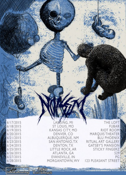 Noisem - US Tour - June - 2015 - promo flyer