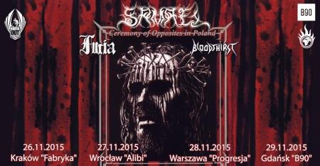 Samael - Furia - Bloodthirst - promo tour flyer - Poland - 2015 - November