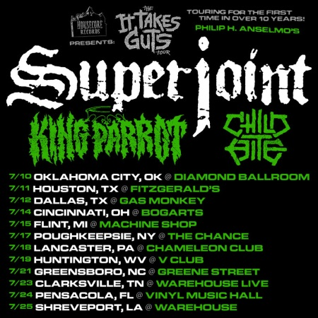 Superjoint - It Takes Guts - Summer 2015 - promo flyer - #060415PAMO