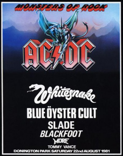 ACDC - Monsters Of Rock - 1981 - promo festival flyer - Whitesnake - #MONCMSSOT