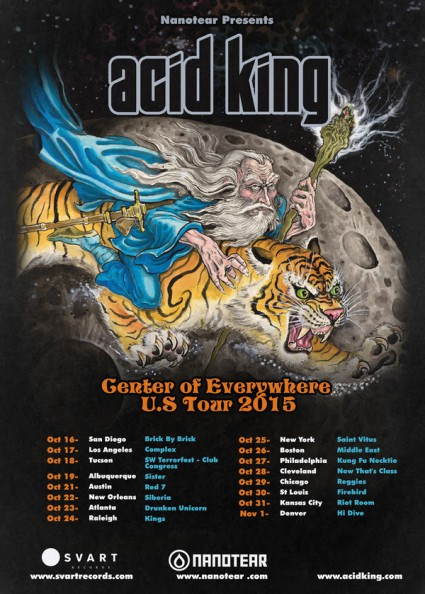 Acid King Center Of Everywhere US Tour - 2015 - promo flyer - #MO333MMSS