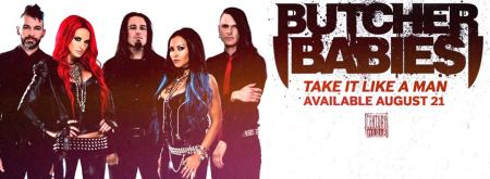 Butcher Babies - Take It Like A Man - promo album banner pic - 2015 - #9969HBBNAGAGOT