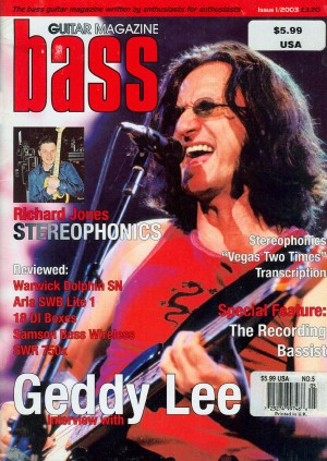 Geddy Lee - Bass Guitar Magazine - cover promo - 2003 - #moslnams777