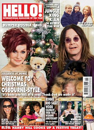 Hello! - Ozzy - Sharon Osbourne - magazine cover - December 13 - 2013 - #MO1426