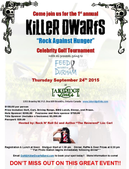 Killer Dwarfs - Rock Against Hunger Charity Golf Tournament - #092415SLMASAM33