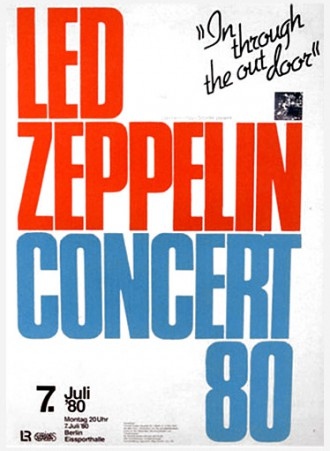 Led Zeppelin - Concert 80 - tour flyer - July 7 - #0780MOSMNSLEO