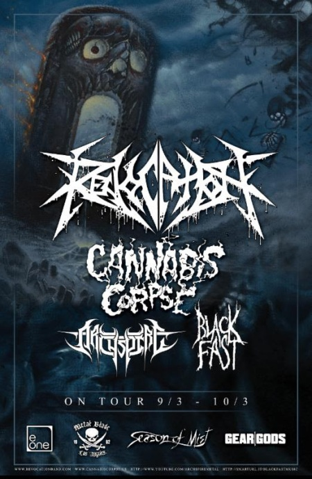 Revocation - September - October - 2015 - Tour Flyer - #073369MONLSBLGAPS