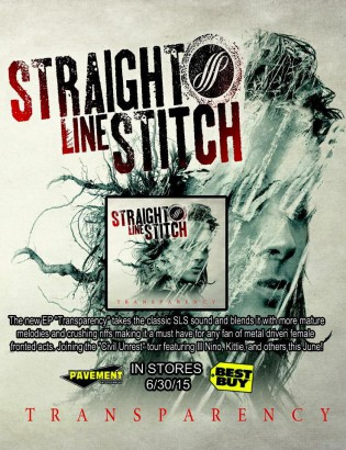 Straight Line Stitch - Transparency - promo CD flyer - 2015 - #3369MOGSNLB