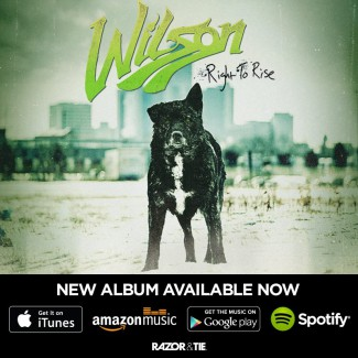 Wilson - Right To Rise - album flyer - #3330303MOSANFE