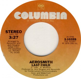 Aerosmith - Last Child - promo 45rpm - 1976 - #21MOMMGMSA733