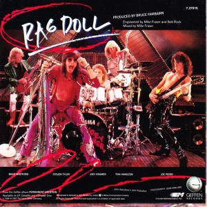Aerosmith - Rag Doll - promo 45rpm cover sleeve - 1988 - #3333036