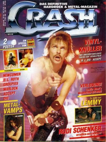 Crash - magazine cover promo - Rudolf Schenker - 1985 - #33033MMIL