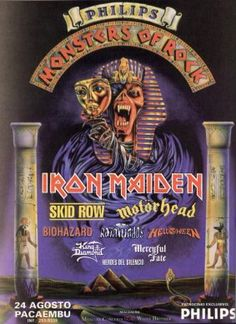 Iron Maiden - 1996 Monsters Of Rock Brazil - promo festival flyer - #MOMNSMMS333