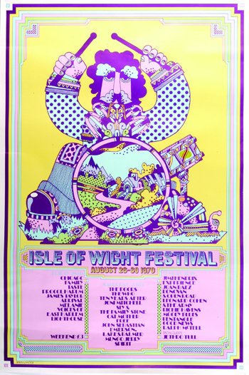 Isle Of Wright Festival - promo flyer pic - 1970 - #0303GMMSSOTLF