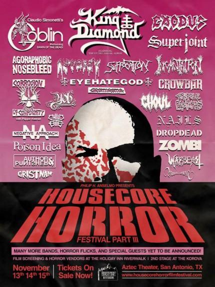 Philip H Anselmos Housecore Horror Festival III - promo flyer - November - 2015 - #6633MMGMSASOTWA6