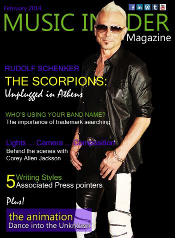 Rudolf Schenker - Music Insider Magazine - cover promo - Feb 2014 - #00330MMF