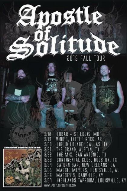 Apostle Of Solitude - 2015 Fall Tour - promo flyer - #0908333009MMF