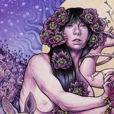 Baroness - Purple - promo album cover pic - 2015 - #092416MMSWL