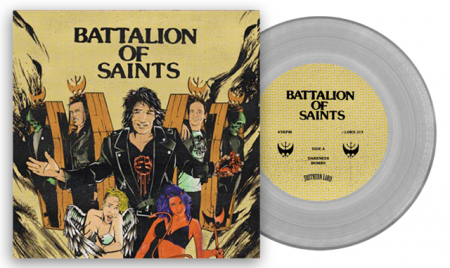 Battalion Of Saints - clear vinyl - 7 inch - promo pic - 2015 - #333MMIL