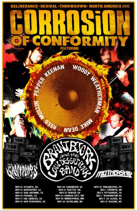 Corrosion Of Conformity - Saviours - promo tour flyer - 2015 - #033MMSS499
