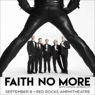 Faith No More - September 8 - Red Rocks - concert promo flyer - 2015- #MNSMMS3309SC