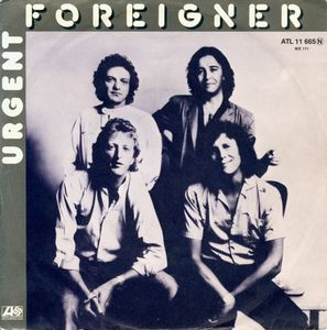 FOREIGNER - Urgent - 45rpm cover sleeve promo pic - 1981 - #MMNS3333