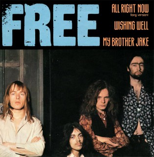 Free - All Right Now - Wishing Well - promo 45rpm cover sleeve - 1970 - #MO333BMF