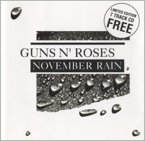 Guns N Roses - November Rain CD - Australian - promo cover pic - #7770033MMSMS