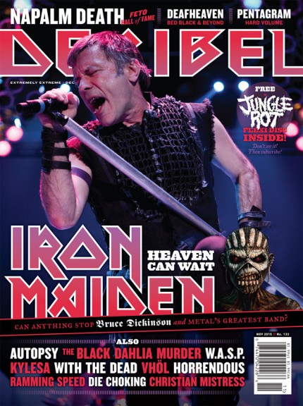 Iron Maiden - Decibel Mag - Bruce Dickinson - promo cover - 2015 - Nov - #MNMMSS4E33