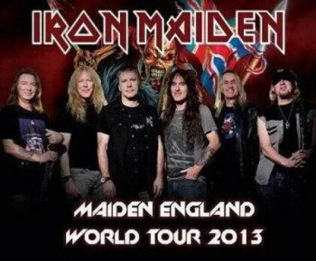 Iron Maiden - Maiden England World Tour - 2013 - promo band pic flyer - #3963MNSSMO9