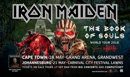 Iron Maiden - The Book Of Souls - World Tour 2016 - South Africa Promo flyer - #663303NMMSS24