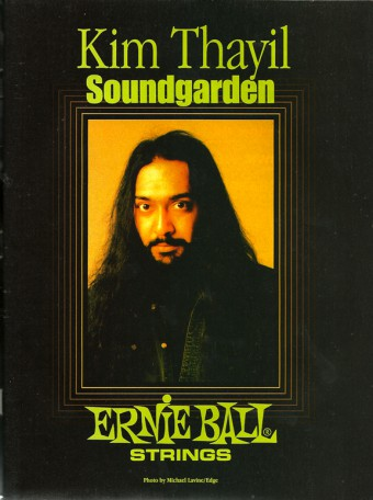 Kim Thayil - Ernie Ball Strings - promo ad - #3330MMS6NBS