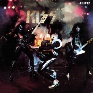 KISS - Alive! - promo album cover pic - 1975 - #0910MMNSS6363