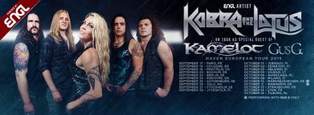 Kobra And The Lotus - European Tour Promo Banner - 2015 - Sept And Oct - #3303MMMSS