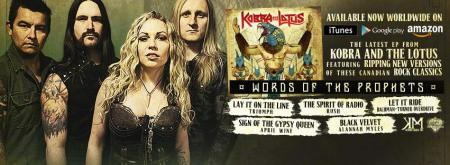 Kobra And The Lotus - Words Of The Prophets - promo CD banner pic - 2015 - #033033MMF